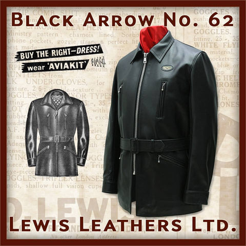 "Lewis Leathers Jacket Men ""Black Arrow"" Cow Black (LL 62-Black)"