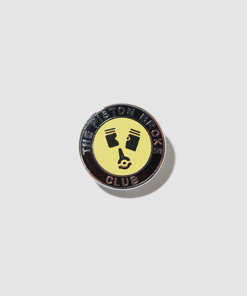 "Lewis Leathers Badge ""Piston Broke Club"" Yellow"