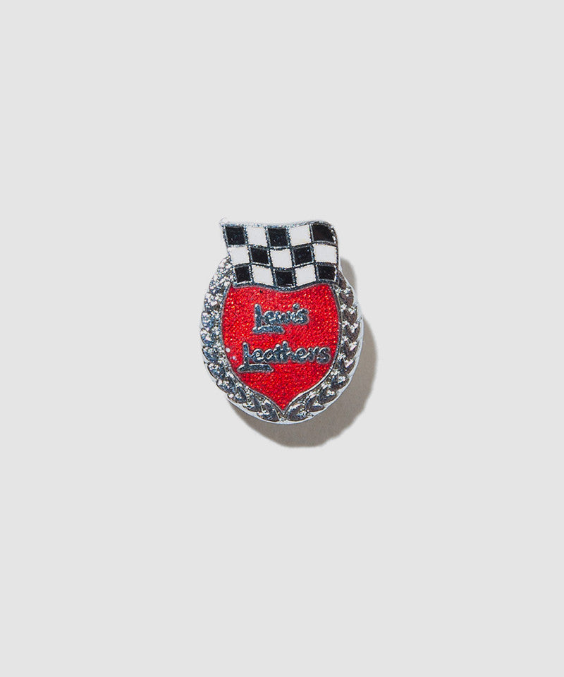 "Lewis Leathers Badge ""1960'S Logo"" Red"
