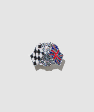 "Lewis Leathers Badge ""Twin Flags"""