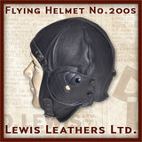 Lewis Leathers Helmet Flying Black (LL 200S)