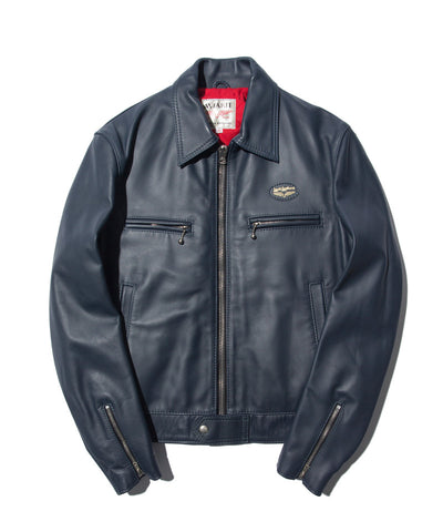 "Lewis Leathers Jacket Men ""Dominator"" Navy Cow (LL 551-Navy)"