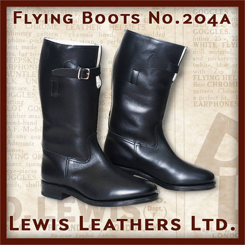 "Lewis Leathers Boots ""Flying"" Black (LL 204SP-Black)"