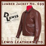 "Lewis Leathers Jacket Men ""Lumber"" Brown Cow (LL 386 Z Lumber-Brown)"