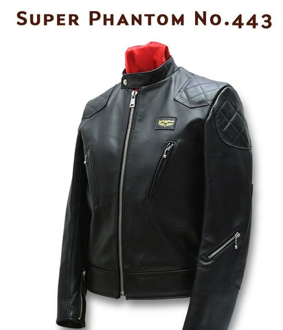 "Lewis Leathers Jacket Men ""Super Phantom"" Black Cow (LL 443-Black)"