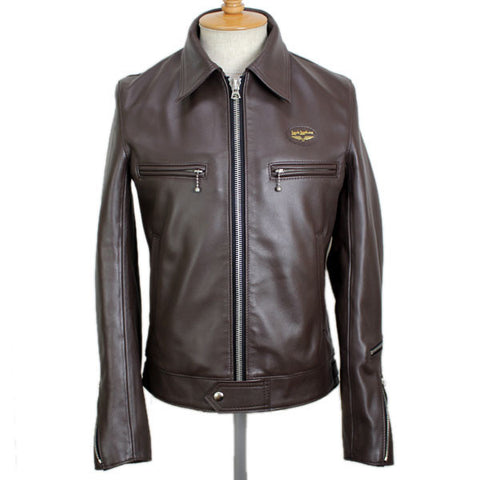 "Lewis Leathers Jacket Men ""Dominator"" Brown Cow (LL 551-Brown)"