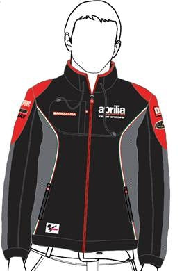 "Aprilia Vetements Racing ""Veste SoftShell"" Noir (606224M01AR)"