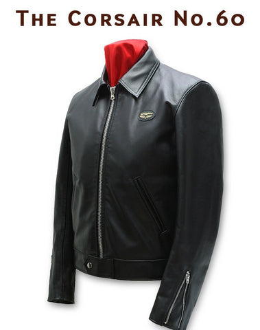 "Lewis Leathers Jacket Men ""The Corsair"" Black Cow (LL 60-Black)"