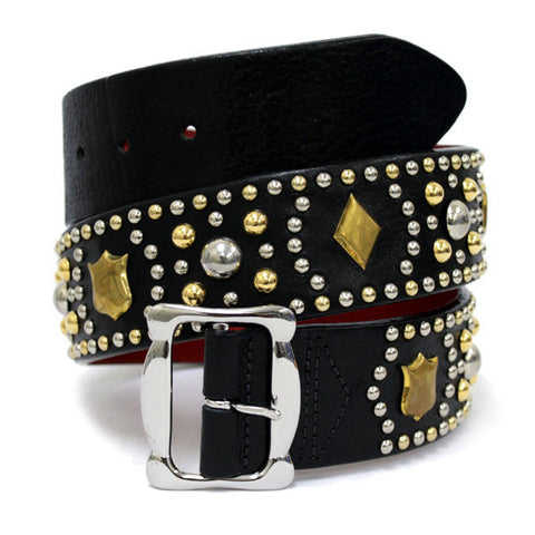 "Lewis Leathers Belt ""Shield & Diamonds"""