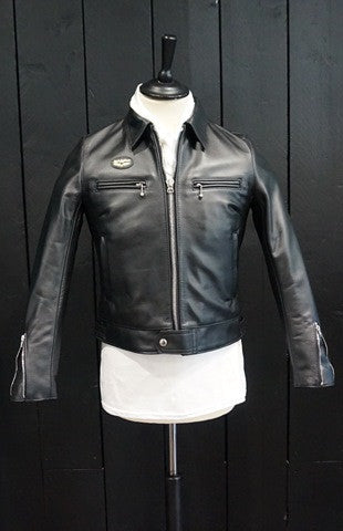"Lewis Leathers Jacket Ladies ""Dominator Ladies"" Black Cow (LL 551L-Black)"