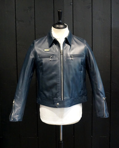 "Lewis Leathers Jacket Ladies ""Dominator Ladies"" Navy Cow (LL 551L-Navy)"