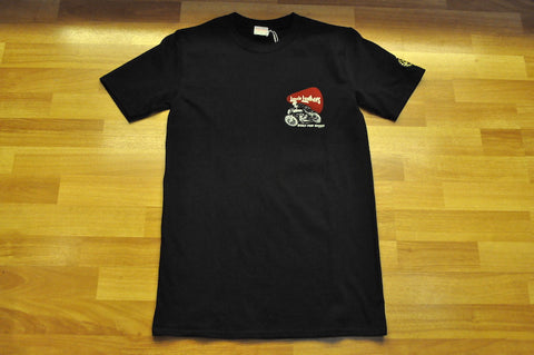"Lewis Leathers T-Shirt ""Built for Speed"" Black"