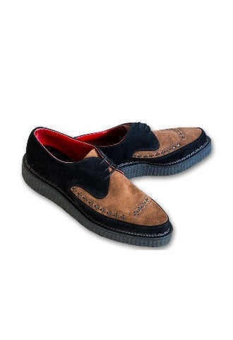 D.Lewis Creepers by George Cox Black & Brown (LL 2944V-BROWN)