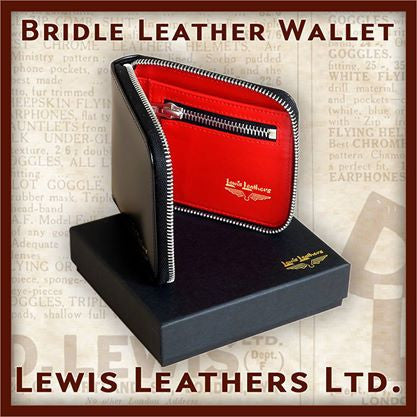Lewis Leathers Wallet Black (LL-405)