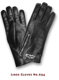 "Lewis Leathers Gloves ""Lined"" Black (LL 694)"