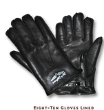 "Lewis Leathers Gloves ""Eight-Ten Lined"" Black (LL 810L)"