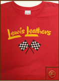 "Lewis Leathers T-Shirt ""Racing Flags"" Red"