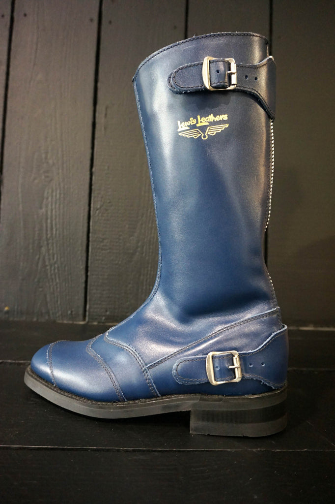 "Lewis Leathers Boots ""Racing"" Navy (LL 178-Navy)"