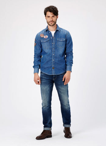 "Norton By Pepe Jeans Shirt ""GRIP"" Denim"