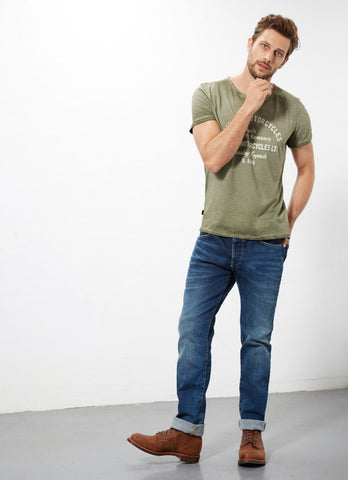 "Norton By Pepe Jeans T-Shirt ""GARAGE"" Military Green"