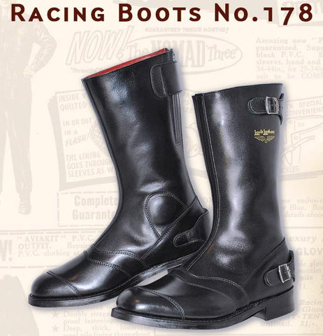 "Lewis Leathers Boots ""Racing"" Black (LL 178-Black)"