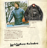 "Lewis Leathers Jacket Men ""Super Monza"" Black Cow (LL 445-Black)"