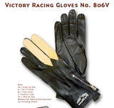 "Lewis Leathers Gloves ""Victory Racing"" Black & Chamois (LL 806V)"