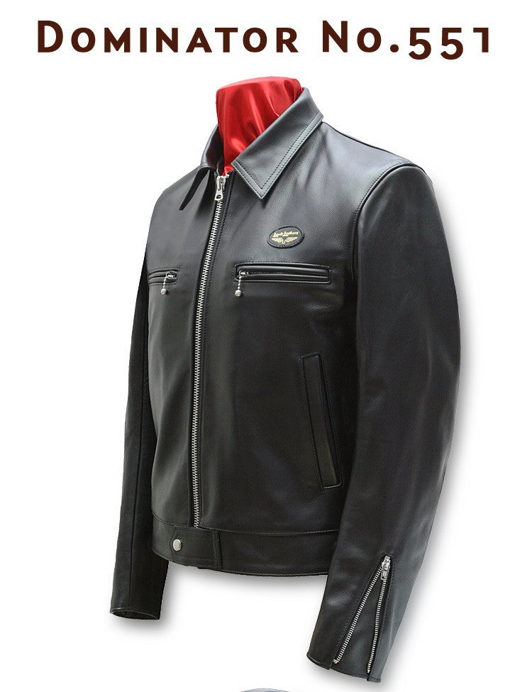 "Lewis Leathers Jacket Men ""Dominator"" Black Cow (LL 551-Black)"