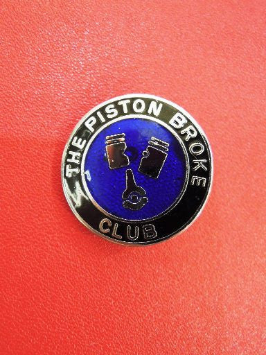 "Lewis Leathers Badge ""Piston Broke Club"" Blue"
