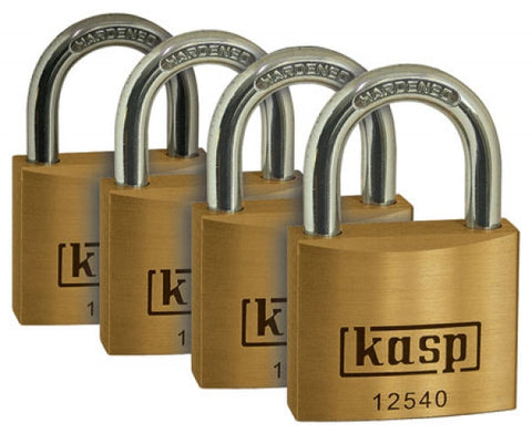 K12540D4 Quad Premium Brass Padlocks 40mm