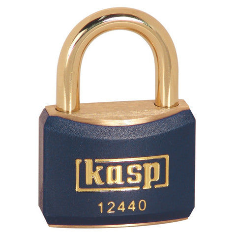 K12440BLUD Plastic Coated Brass Padlock 40mm (Blue)