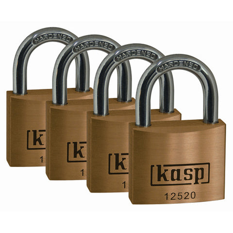 K12520D4 Quad Premium Brass Padlocks 20mm