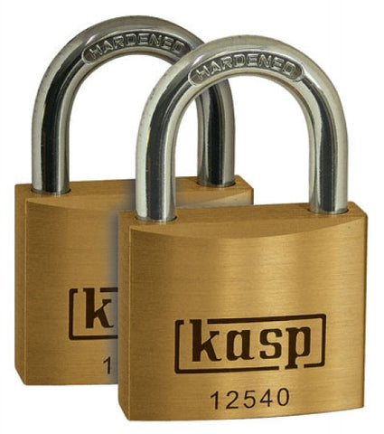 K12540D2 Twin Premium Brass Padlocks 40mm