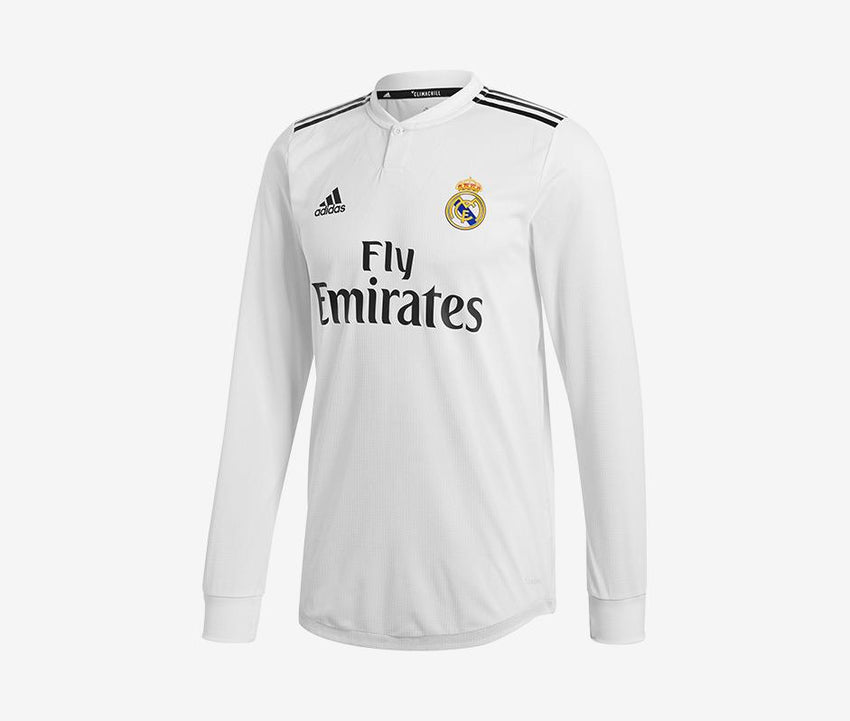 345a091cd07 Real Madrid 2018-19 Home Match LS Jersey – Pelé Soccer