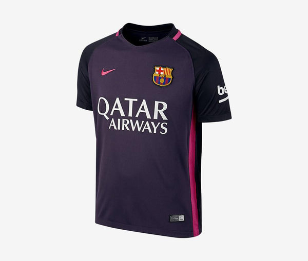 Barcelona 2016-17 Youth Away Jersey w/ Sponsor