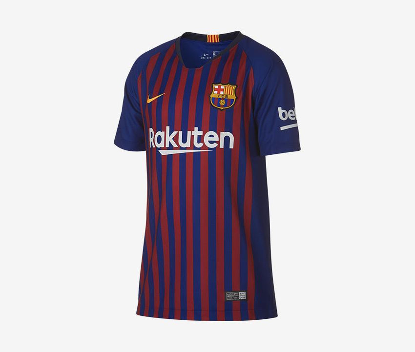promo code 96c1e 44c92 Barcelona 2018-19 Youth Home Jersey