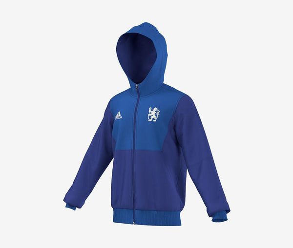 Adidas Chelsea FC Full-Zip Fleece Hoodie - United World Soccer - 1