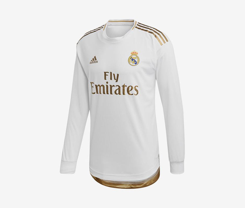 new styles 48872 d02c6 Real Madrid 2019-20 Long-Sleeve Match Home Jersey