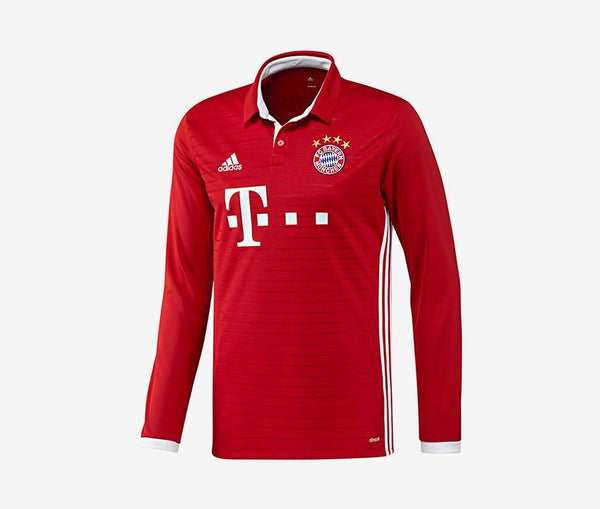Adidas FC Bayern Munich Long-Sleeve Home Jersey (Men's) (2016-17) - United World Soccer - 1