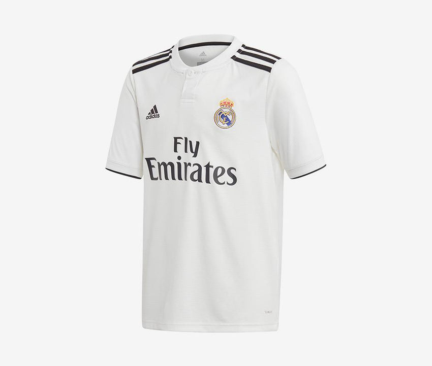 c700f4e9a Real Madrid 2018-19 Youth Home Jersey – Pelé Soccer
