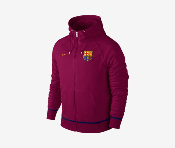 Nike FC Barcelona Authentic AW77 FZ Hoodie - United World Soccer - 1