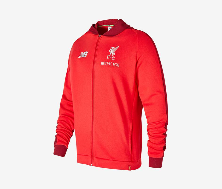 4a8419e1a85 New Balance Liverpool 2018-19 Youth Leisure Hoodie. Apparel ...