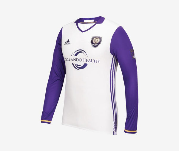 Adidas Orlando City Away Jersey Authentic Long-Sleeve - United World Soccer - 1
