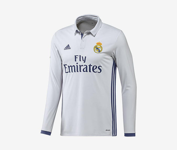 Adidas Real Madrid Long-Sleeve Home Jersey (2016-17) - United World Soccer - 1