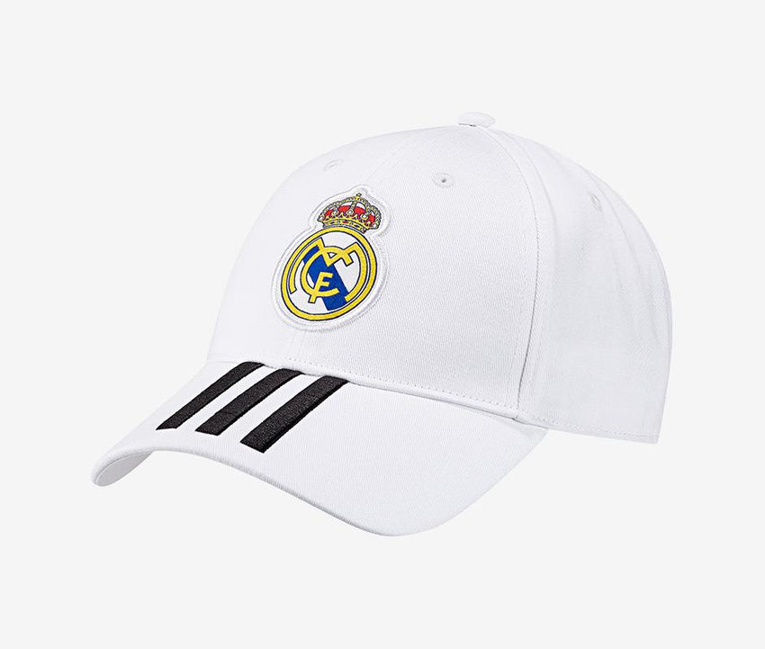 9adb88b406c Real Madrid 2018-19 3-Stripe Hat – Pelé Soccer