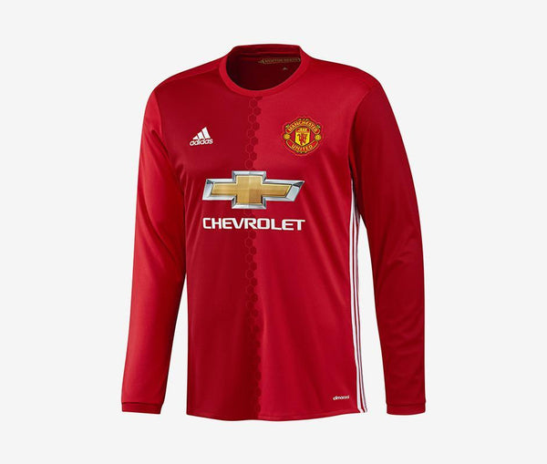 Adidas Manchester United Long-Sleeve Home Jersey (Men's) (2016-17) - United World Soccer - 1
