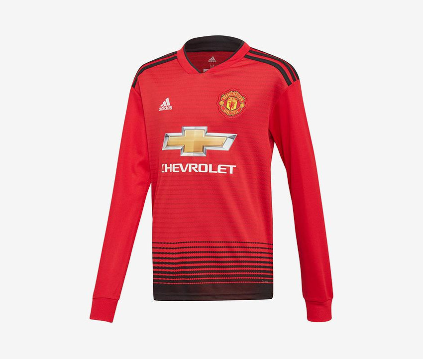 6a11cce9c Manchester United 2018-19 Youth Home LS Jersey – Pelé Soccer