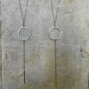 Hammered Circle Necklace