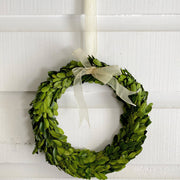 Boxwood Wreaths on Ribbon