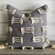Frayed Cotton Pillow Cover